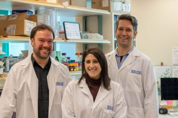 Study authors Dr. Philipp Lange, Amanda Lorentzian and Dr. Chris Maxwell