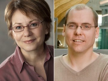 Karin Humphries and Leonard Foster receive Distinguished Researcher Awards