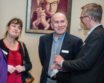 Barbara and William Simoes speak with Dr. Kenneth Tupper of the BC Centre on Substance Use at the UBC Connects event on February 11, 2019 that featured Michael Pollan presenting about food, plants and psychedelics as revolutionary approaches to human health and well-being.