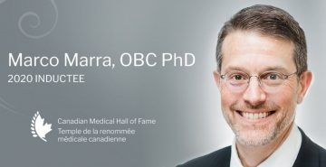 Marco Marra inducted into the 2020 Canadian Medical Hall of Fame